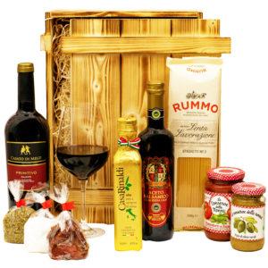 Geschenkbox Florenz - Rotwein und italienische Delikatessen