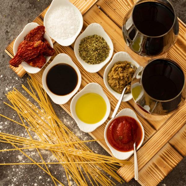 Geschenkset Florenz - italienisches Essen fresskorb