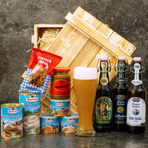 Geschenkkorb Bayern München - Bayerische Spezialitäten Bier