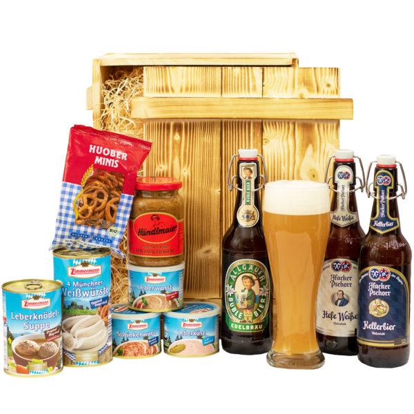 Bayern Geschenkkorb München - Bayerische Spezialitäten und Bier