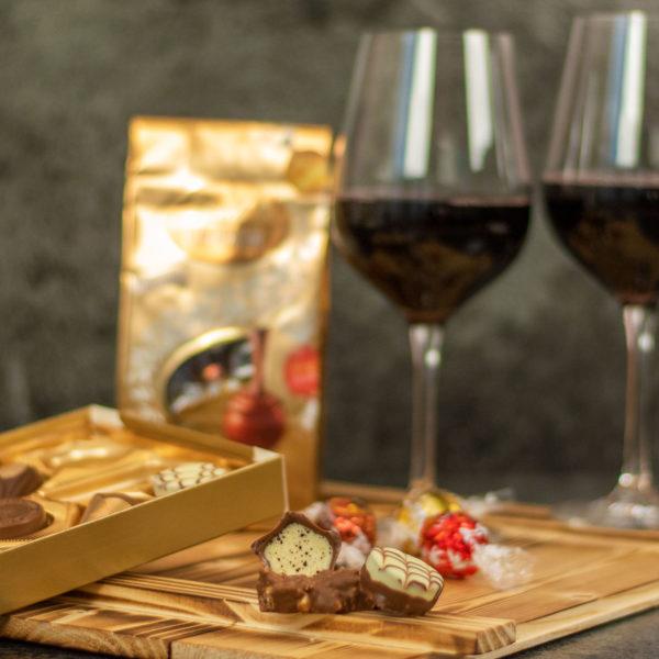 Mailand -Geschenkset Wein und Schokolade