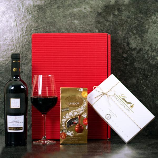 Geschenkset Mailand - Wein und Schokolade