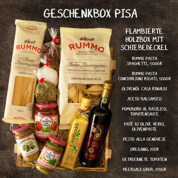 Italienischer Geschenkkorb Pisa mit Feinkost aus Italien