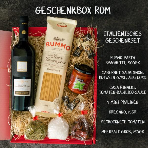 Geschenkbox Rom - italienische Spezialitäten Korb
