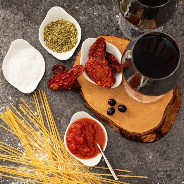 Präsentkorb Italienisch mit Wein und Pasta