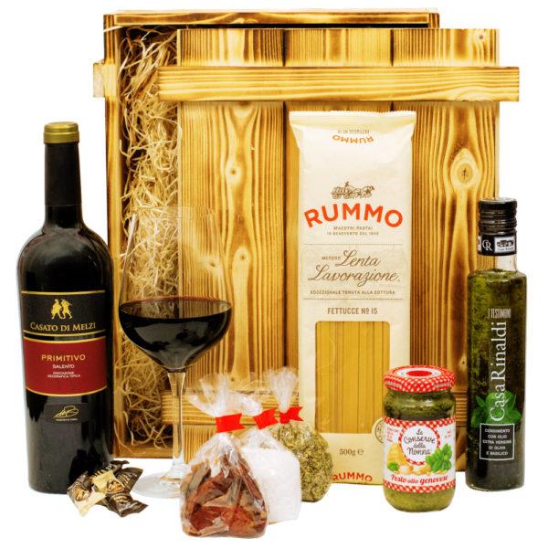 Italiensicher Geschenkkorb Verona Wein Feinkost aus Italien