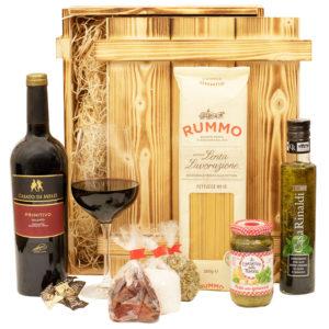 Geschenkbox Verona - Geschenkkorb Italienisch mit Wein aus Italien