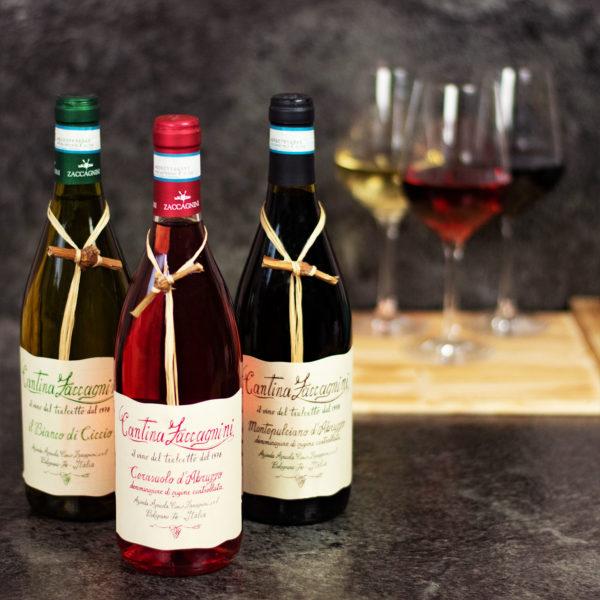 Wein Geschenkkorb mit Rotwein aus Italien