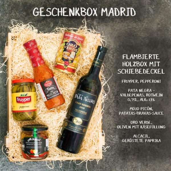 Tapas Geschenkkorb mit spanischen Spezialitäten