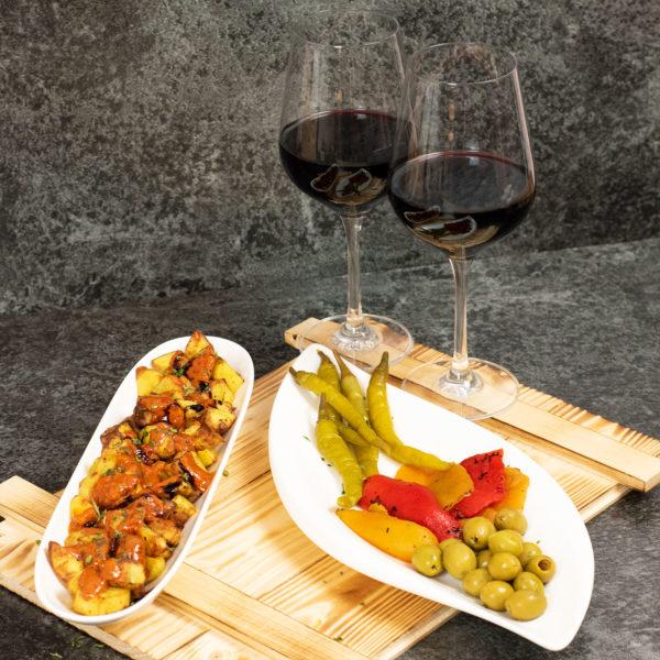 Tapas Präsentkorb spanische Delikatessen