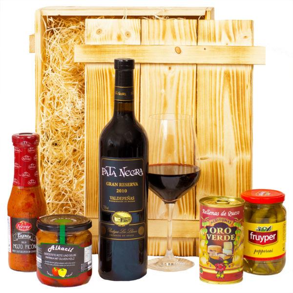 Spanischer Geschenkkorb mit Tapas aus Spanien