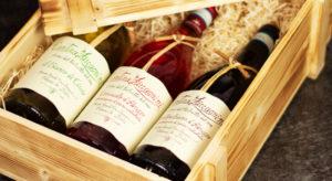 Weinset Geschenk - Wein Geschenkset mit Holzkiste