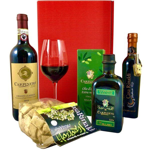 Geschenkkorb Siena Feinkost Geschenkkorb mit Wein und Olivenöl